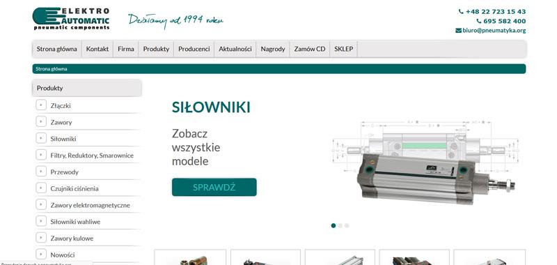 Realizacja - ELEKTRO-AUTOMATIC  - strona www