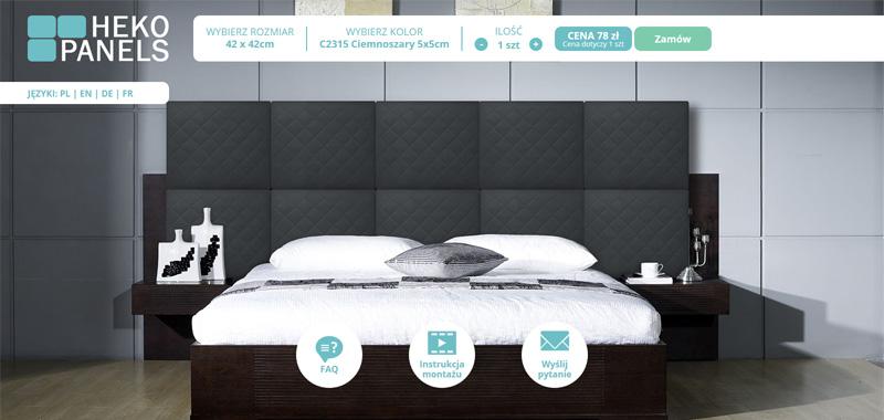 Realizacja - hekopanels - kalklulator modułów do łóżka