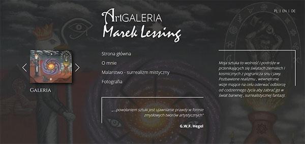 Realizacja - ARTGALERIA Marek Lessing - strona artystyczna