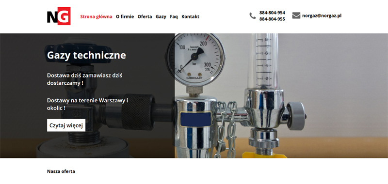Realizacja - norgaz - strona www